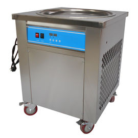 Single Pan Fried Ice Cream Machine Fast Freezing With Temperature Control