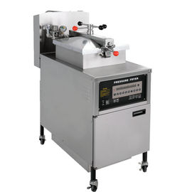 China Computer Control Electric Chicken Pressure Fryer With Automatic Oil Filter distributor